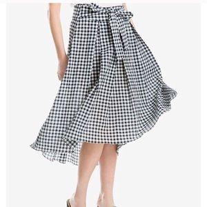 NWT $78 Max Studio Gingham Midi Skirt - Size Med